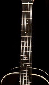 Custom Ukulele, a Beech tenor with a black stain