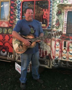 LEAF Guitar Raffle winner 2012 Otis Burke