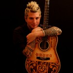 Mike Gossin and his Custom Painted Guitar