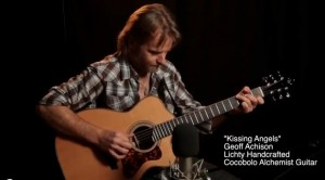Geoff Achison on a Lichty Cocobolo Guitar - Kissing Angels