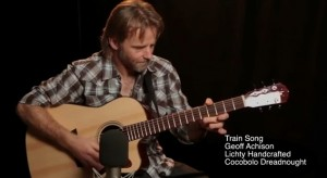 Geoff Achison on a Lichty Cocobolo Guitar, Train Song