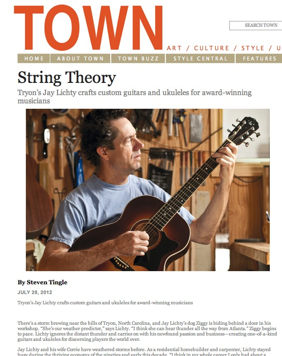 Town magazine Lichty Guitar Feature