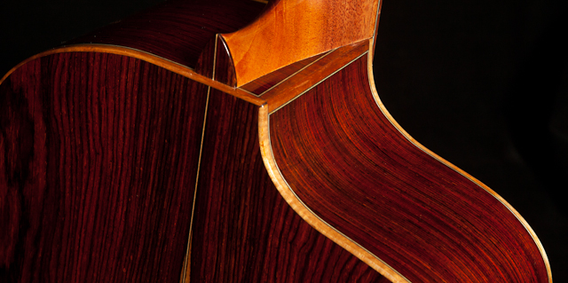 Custom Left-Handed Guitar - Cocobolo Crossover Guitar