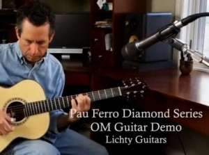 Pau Ferro Diamond Series OM Guitar demo
