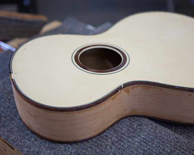 Ancient Kauri Guitar construction