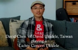 David Chen plays a Lichty Concert Ukulele