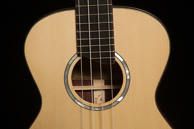 Custom Ukulele, Indian Rosewood High G Tenor