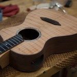 Custom Granadillo Baritone Ukulele construction, U52