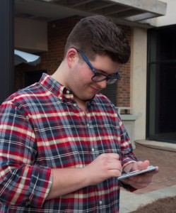 Noah at Furman University signing CD's