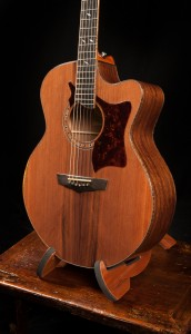 Chechen small jumbo with sinker redwood top, G76