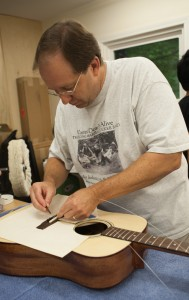 Guitar Building Workshop Aug 2014 Student Steve Collie