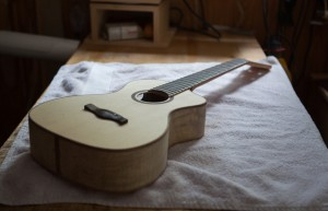 Ukulele Building Workshop Aug 2014, ready for finish-18