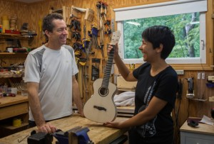 Ukulele Building Workshop Aug 2014, ready for finish