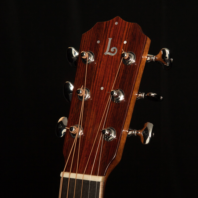 Solid guitar headstock