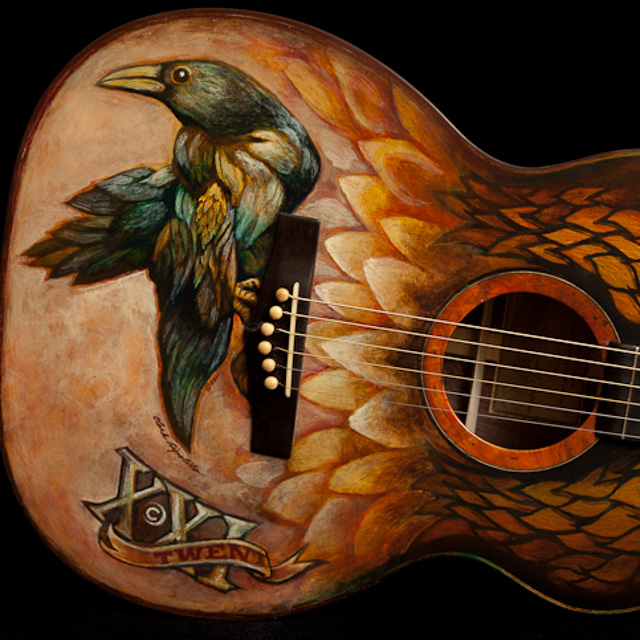 Custom Hand Painted Guitar