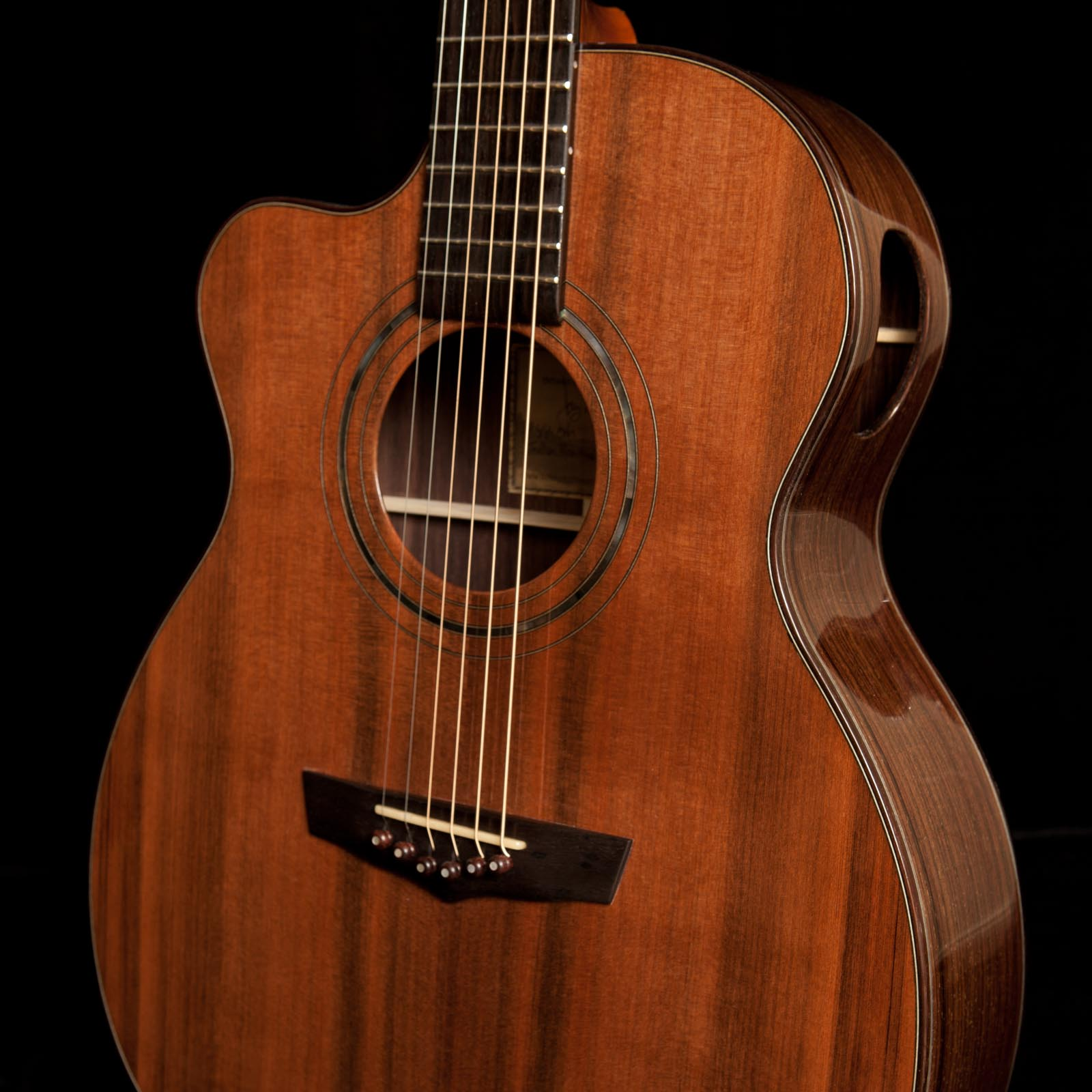 Indian Rosewood - Sinker Redwood Left Handed Guitar
