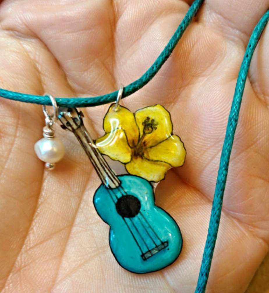 Ukulele Charm Necklace