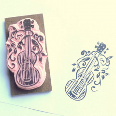 Ukulele Ink Stamp