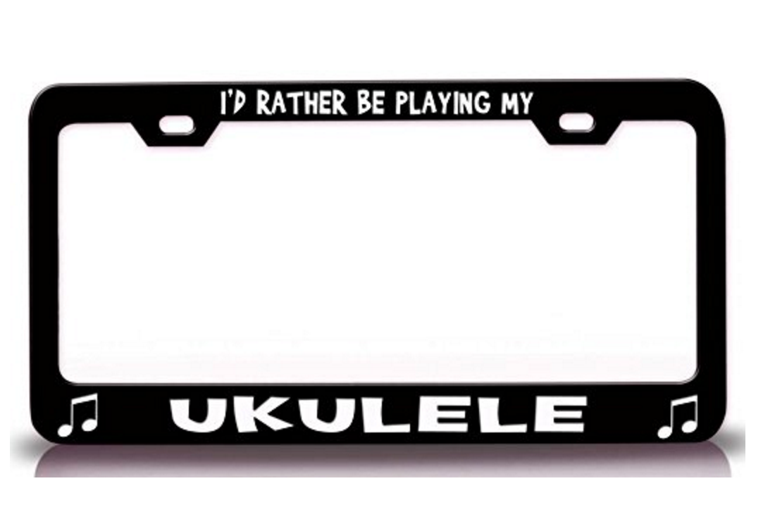 Ukulele License Plate Holder