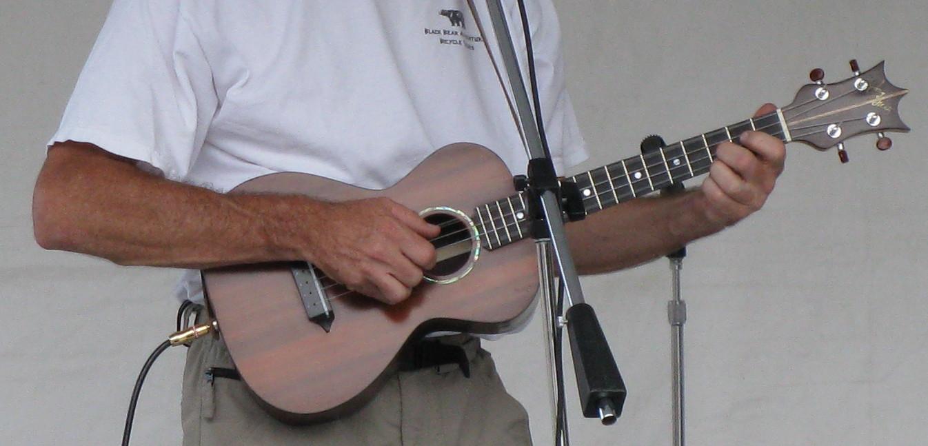Brazilian Rosewood Ukulele, Lichty Guitars in concert