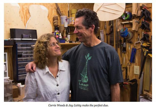 Jay and Corrie, Lichty GUitars, photo courtesy Capital at Play Magazine