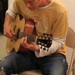Guitarist Doug Lancio with handmade Lichty Guitar