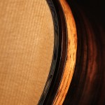 Spalted Brazilian Rosewood OM Guitar - edge detail