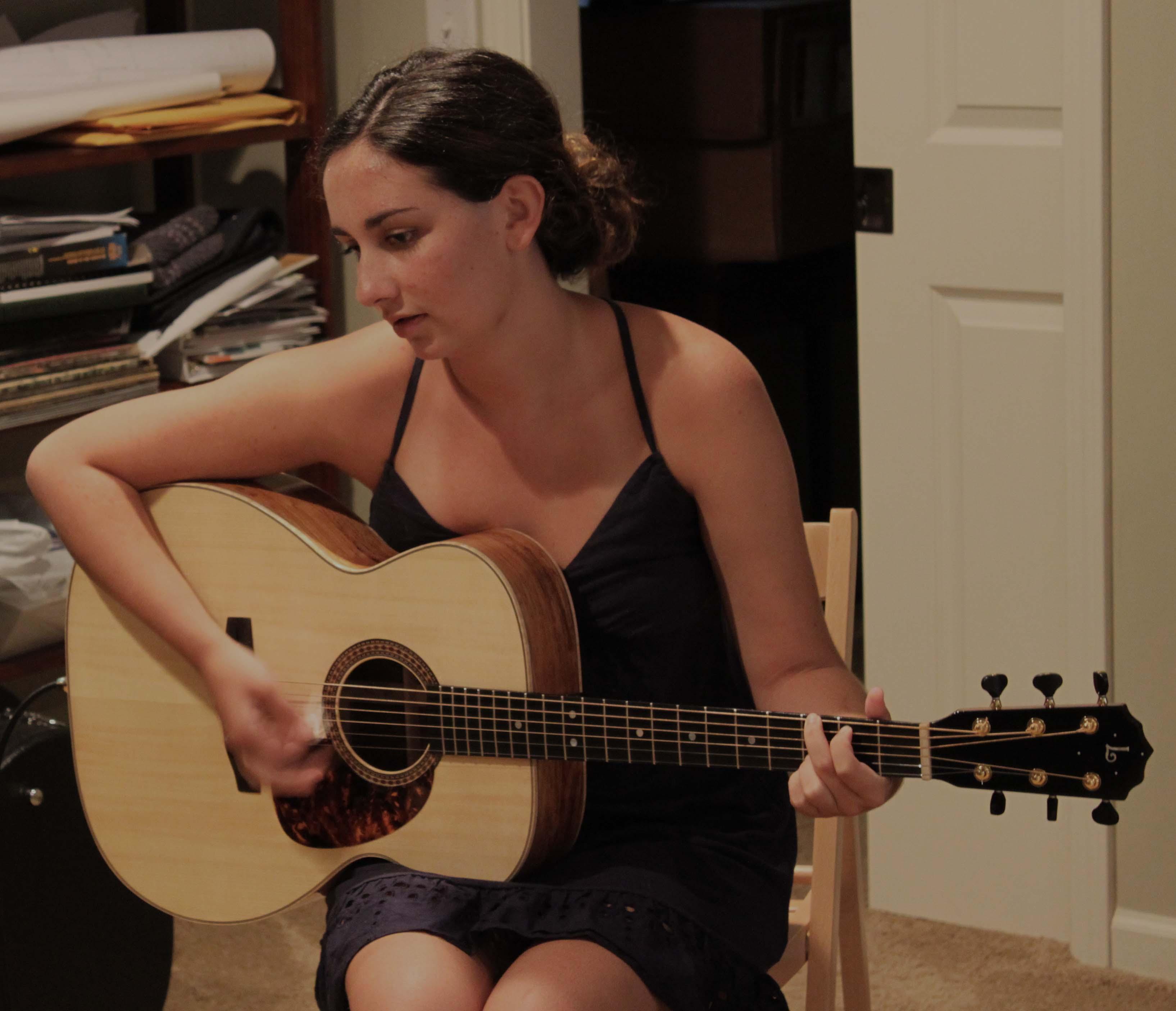 Haley Dreis and her Custom Lichty Guitar