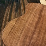 Brazilian Rosewood and Curly Redwood prep for a Tenor Ukulele