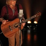 Tom Gossin playing his custom Lichty Guitar on stage with Gloriana - image thanks to Ram County on Y Music and by CJ Hicks