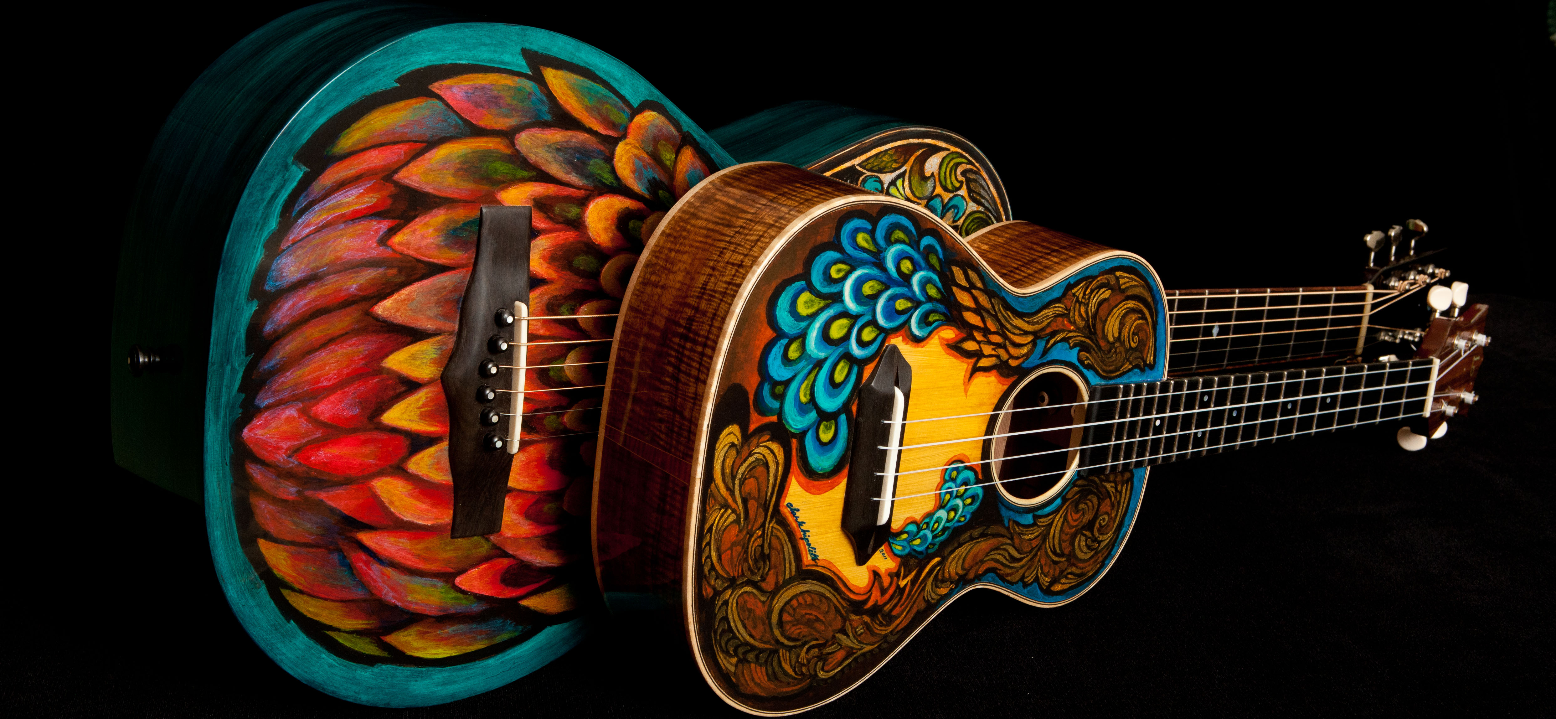 Handcrafted Lichty Guitars, artwork by Clark Hipolito