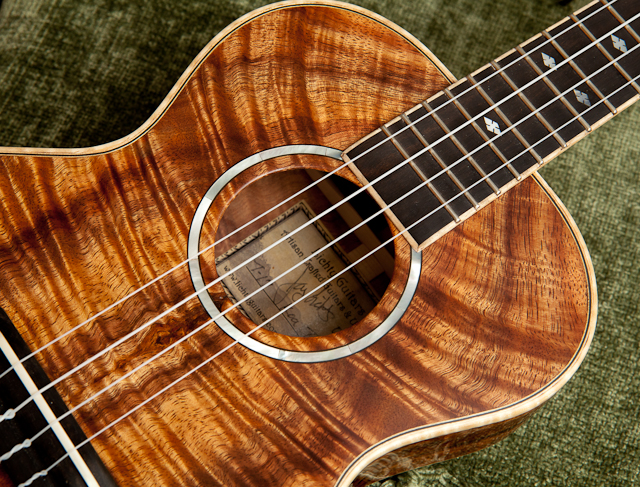 Custom Koa Tenor Ukulele, T17, Lichty Guitars