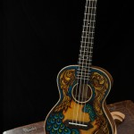 Handmade Koa Lichty Ukulele, artwork by Clark Hipolito