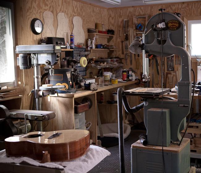 luthier shop of custom guitar builder lichty guitars. Black Bedroom Furniture Sets. Home Design Ideas