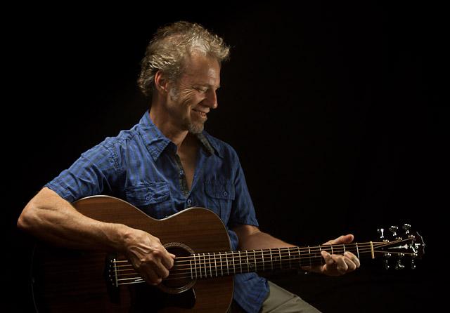 Randall Bramblett and his custom Lichty Guitar