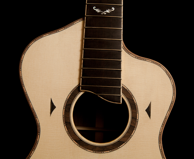 The Bard - a modified Parlor Guitar - in progress