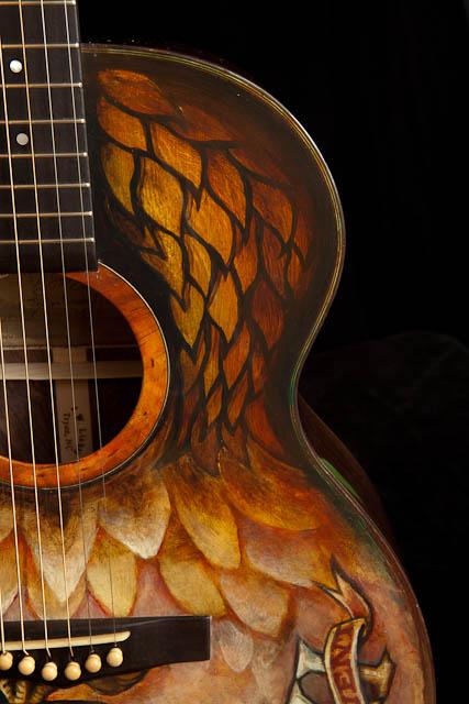 Guitar Artwork, hand painted guitar