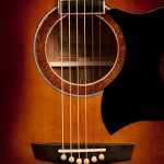 Mahogany Guitar with Sunburst,