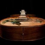 Handmade Hand painted guitar, Indian Rosewood