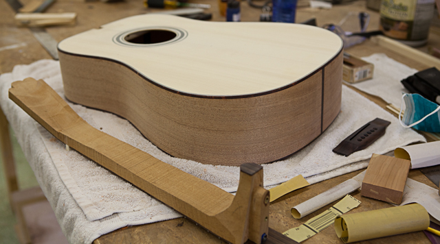 small group guitar building workshop days 1 5 lichty guitars. Black Bedroom Furniture Sets. Home Design Ideas