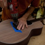 Finishing Touches on Randall Bramblett's Guitar