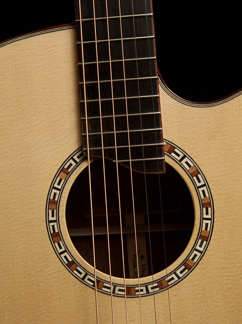 chechen guitar small jumbo with cutaway lichty guitars. Black Bedroom Furniture Sets. Home Design Ideas