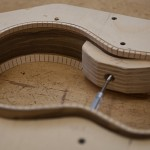 Custom Concert Ukulele construction - black limba