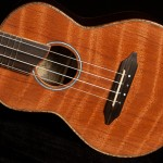 Wenge Concert Ukulele, curly redwood top