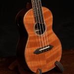 Wenge Concert Ukulele, curly redwood top