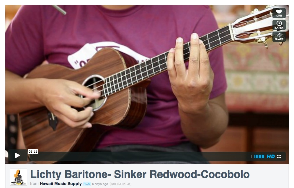 Lichty Baritone Ukulele Video