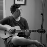 Noah Guthrie at Lichty Guitar's studio