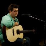 Noah Guthrie at Lichty Guitars' studio