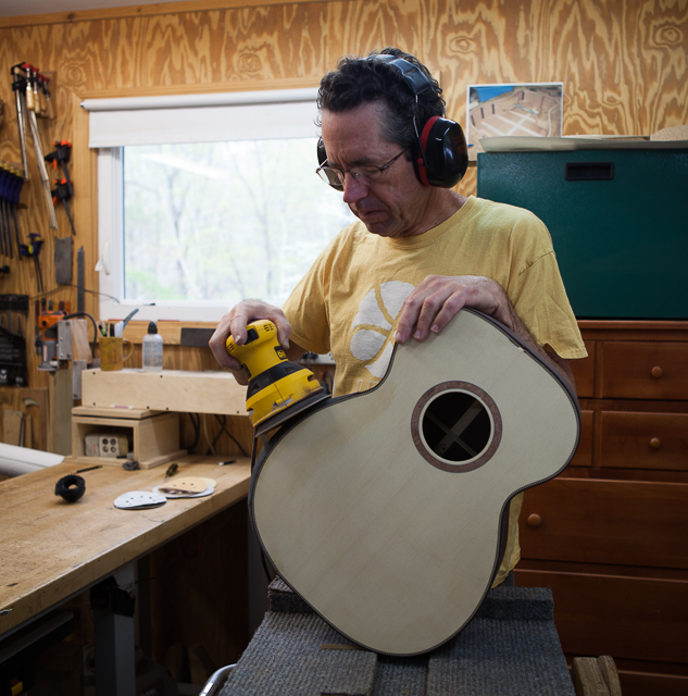 Indian Rosewood Custom OM GUitar Construction, G78 (image set 2)