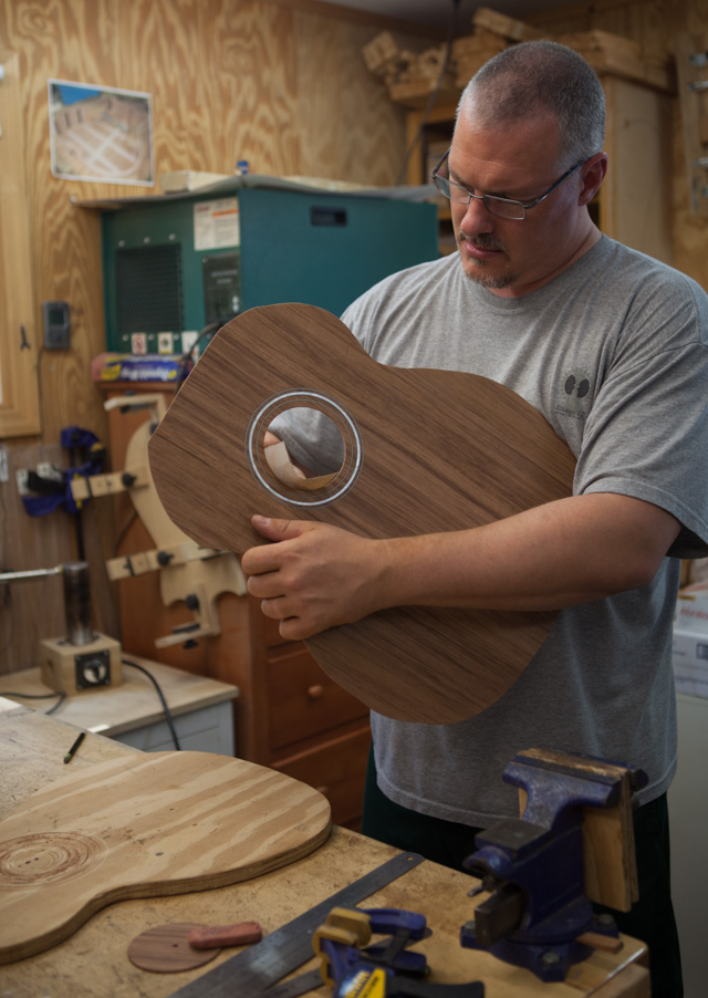 Lichty Guitar Building Workshop, July 2014 Day 1